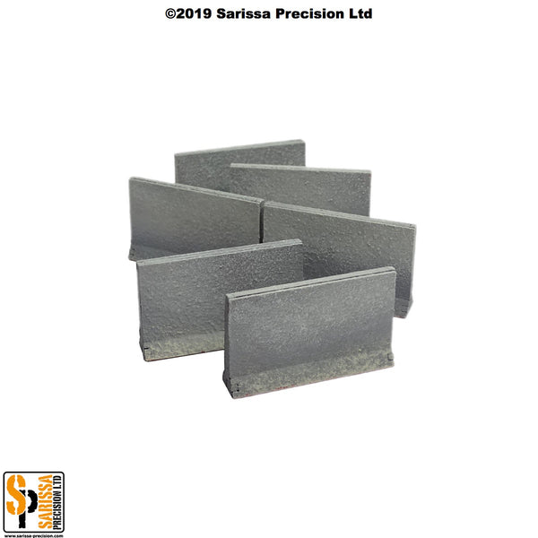 Concrete Traffic Barrier Set High (28mm)