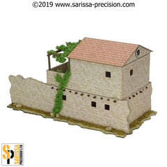 Mediterranean Village Two Storey House (28mm)