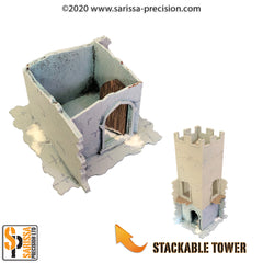 The Ruined City - Ground Level Tower Base (stackable)