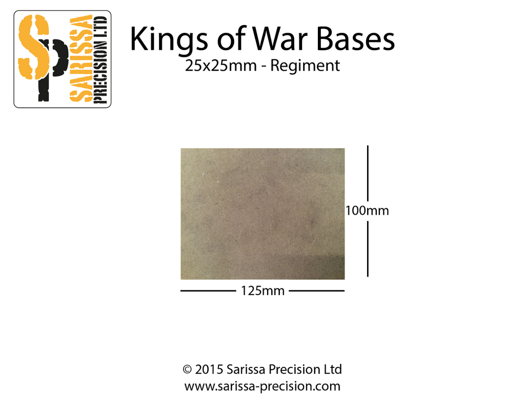Regiment Base 125x100mm 25x50