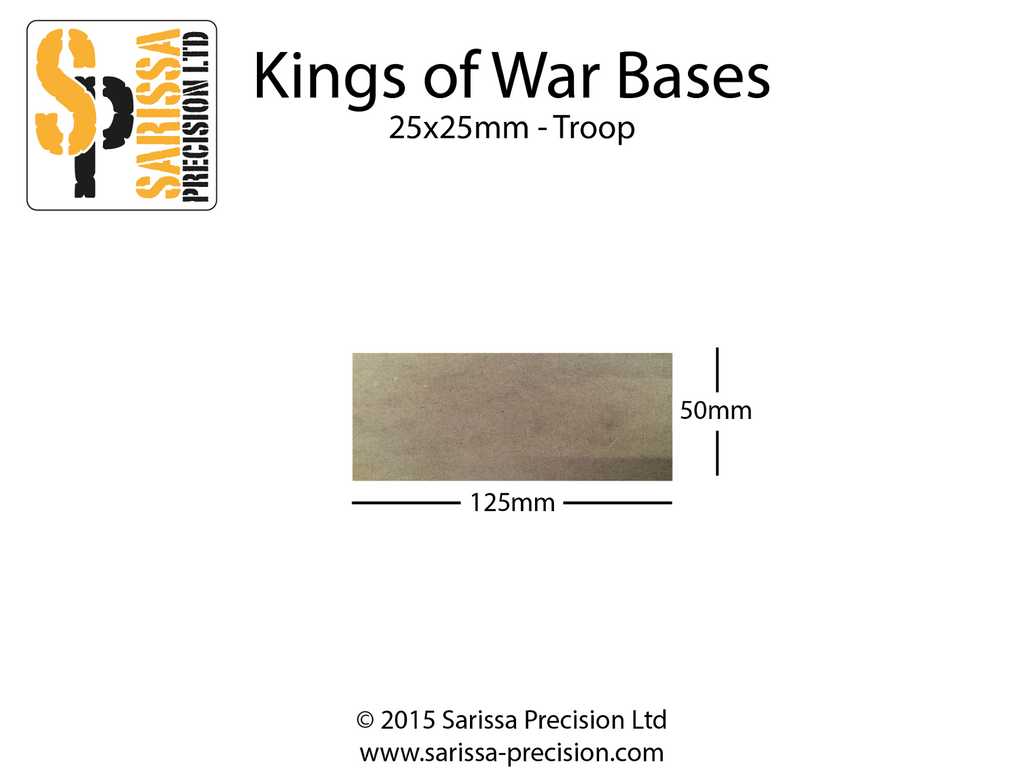 Troop Base 125x50mm 25x50