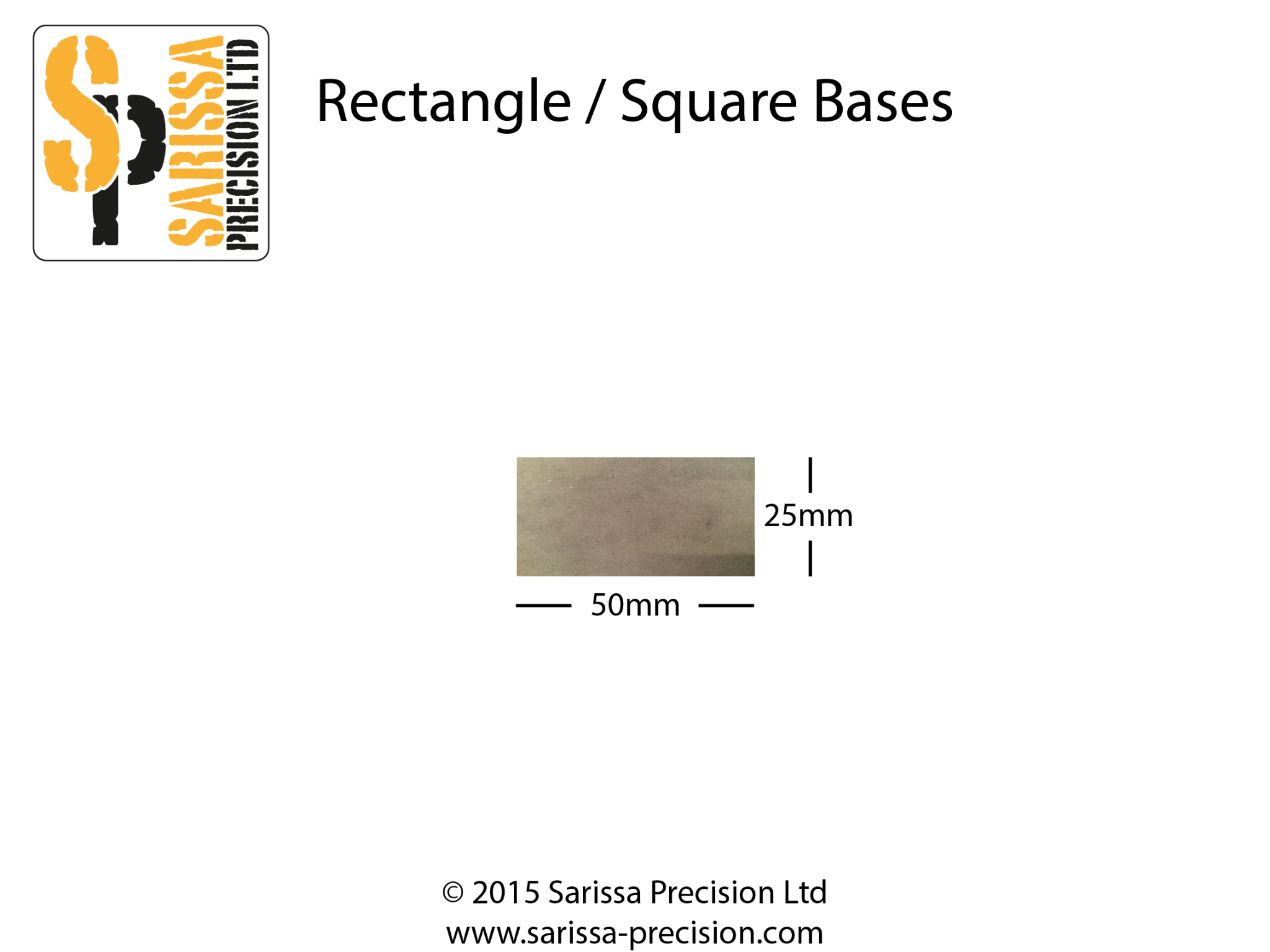 50 x 25mm Base Pack