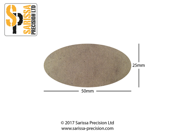 50 x 25mm Oval Base Pack