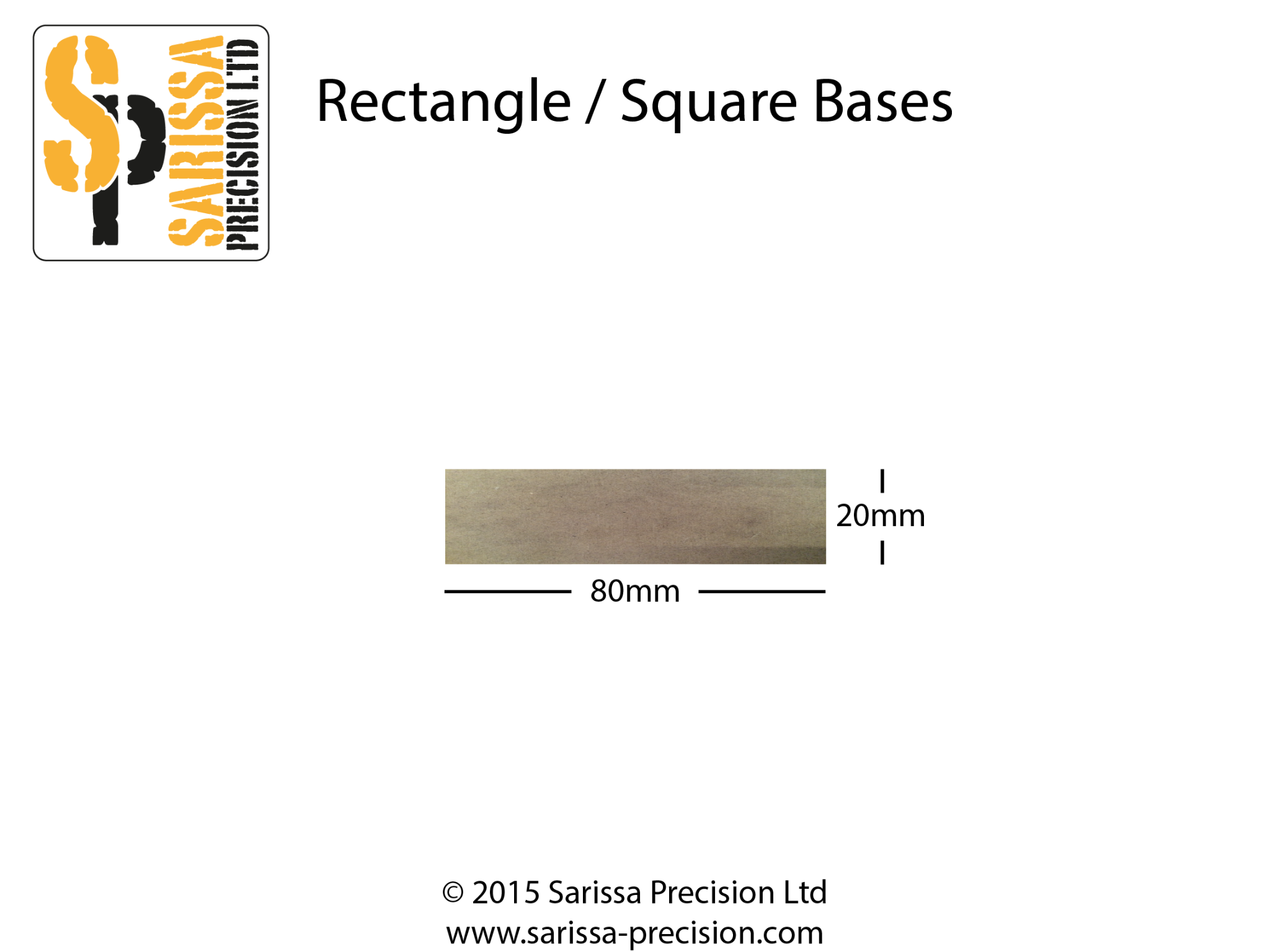 80 x 20mm Base Pack