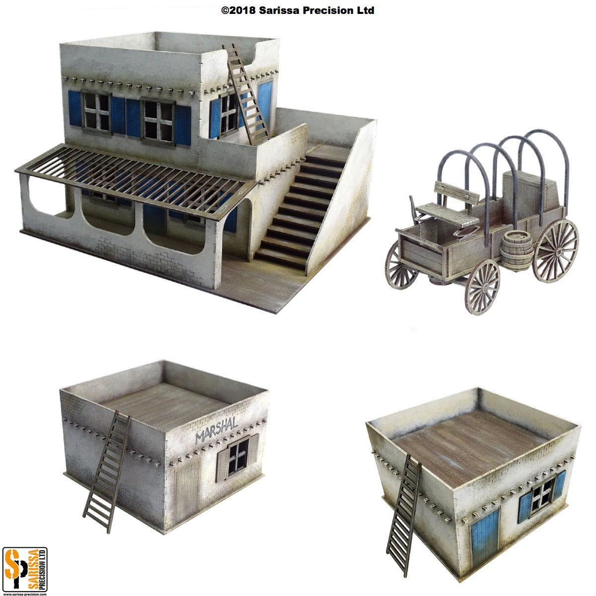 South of the Border Scenery Set - 40mm