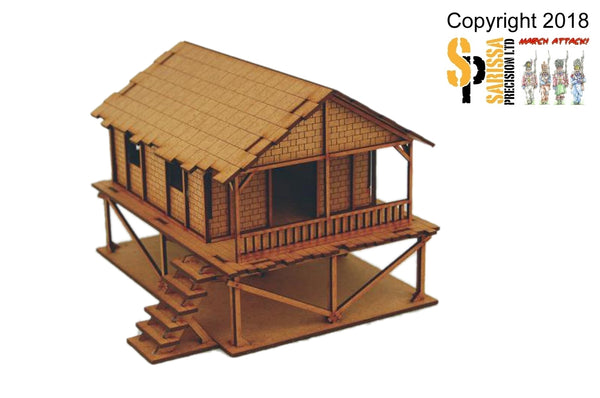 Woven Palm-Style Village House  - 20mm