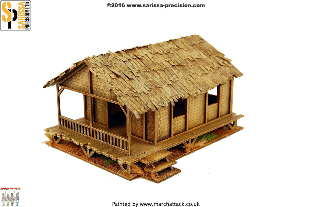 Low Woven Palm-Style Village House - 28mm