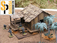 Low Planked-Style Village House - 28mm