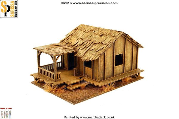 Low Planked-Style Village House - 20mm