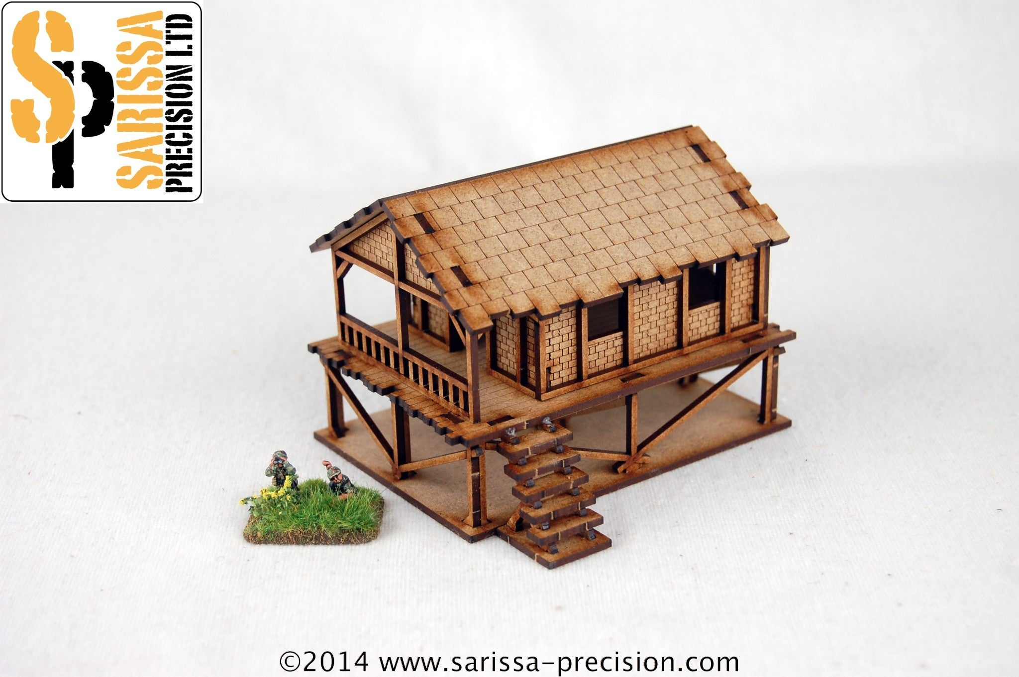 Woven Palm-Style Village House - 15mm