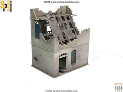 Destroyed Two-Storey House - 28mm