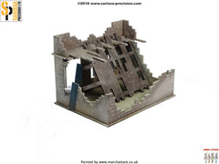 Destroyed Small House - 28mm