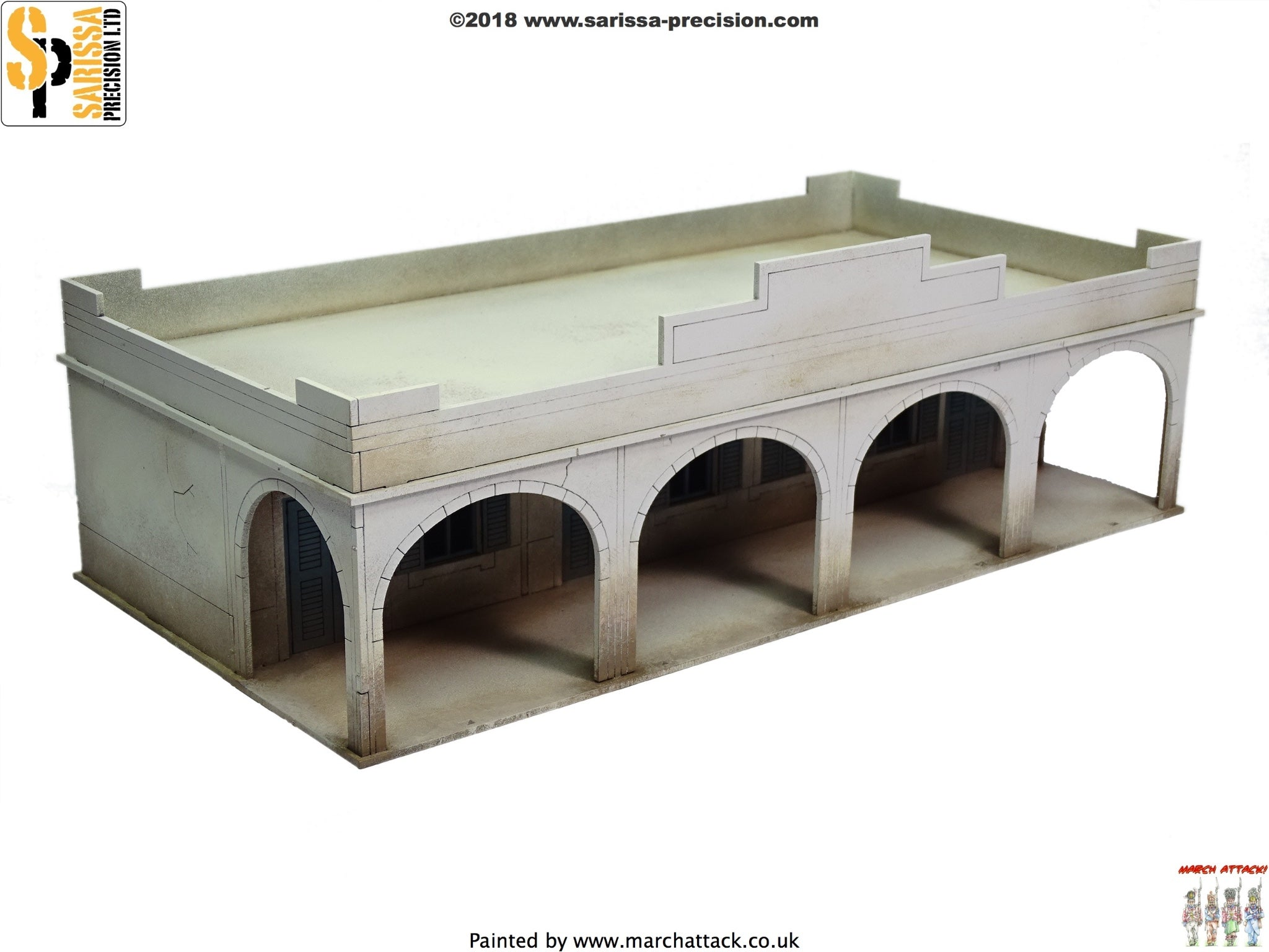 Single-Storey Souk Building - 28mm