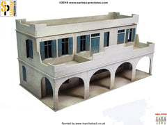 Two-Storey Souk Building - 28mm