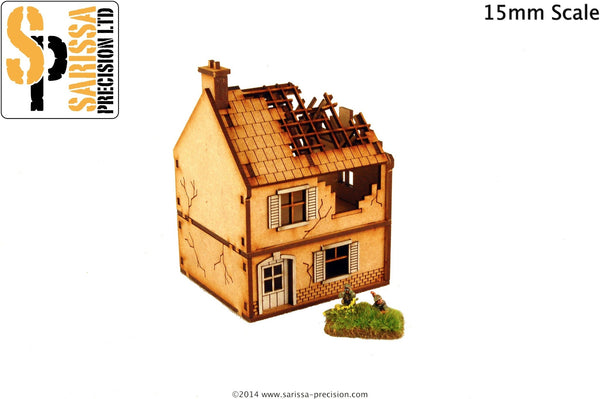 Destroyed Small House (15mm)