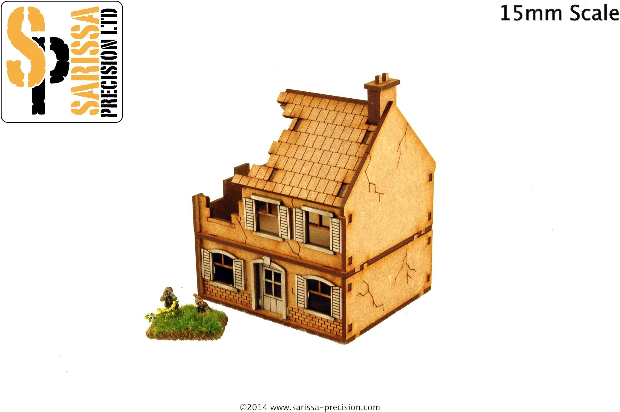 Destroyed Farmhouse - 15mm