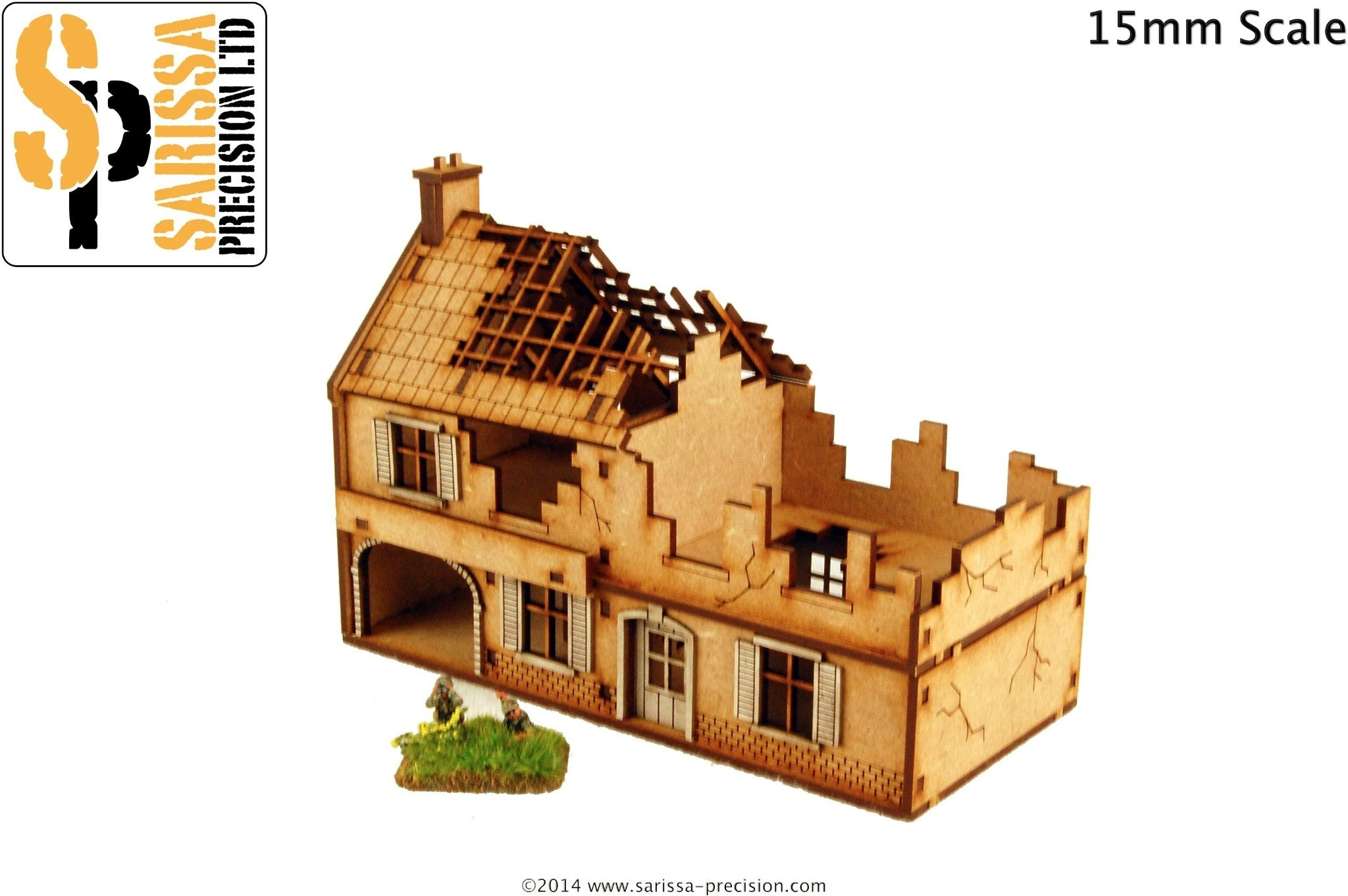 Destroyed Large Farmhouse - 15mm