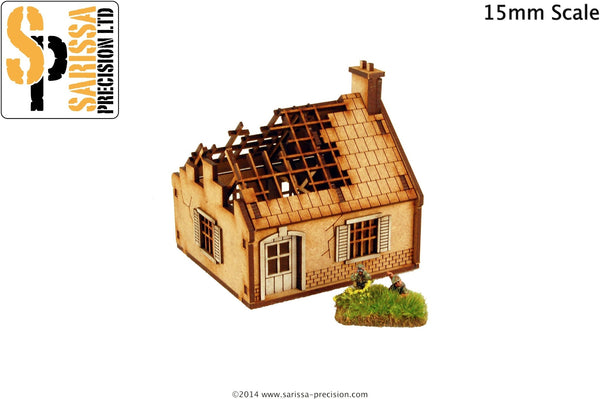 Destroyed Single Storey House (15mm)