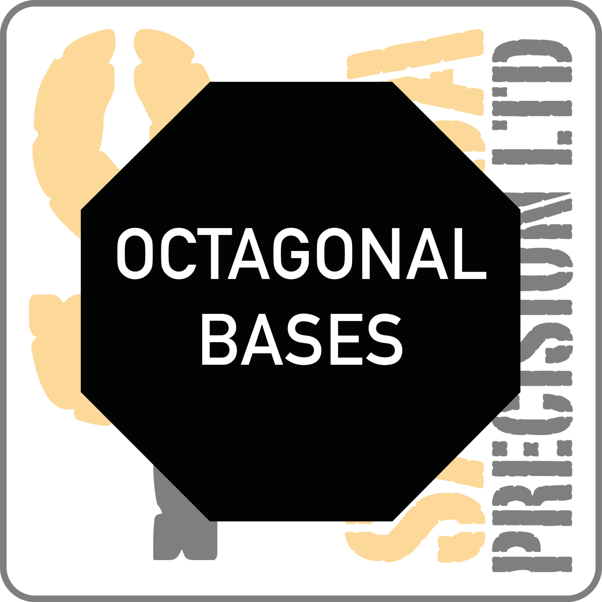 75mm Octagonal Base Pack