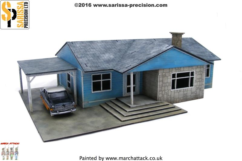 Residential Ranch Style House (Car Port LHS)