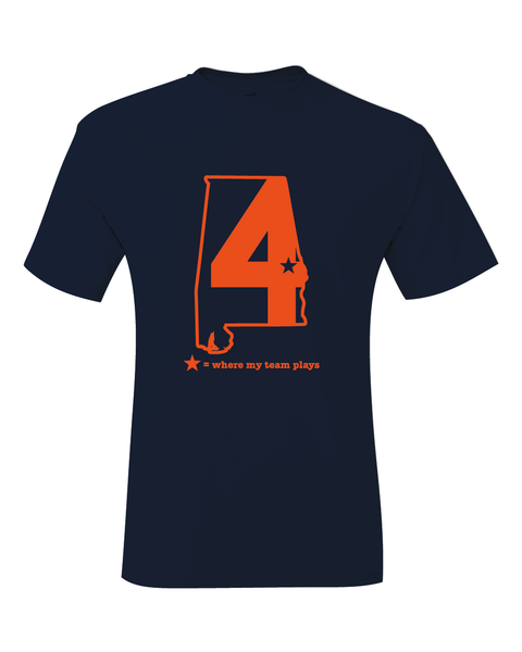 Alabama Auburn Where My Team Plays Basketball Final Four T-Shirt