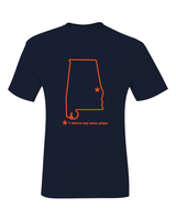 Alabama Auburn Where My Team Plays T-Shirt