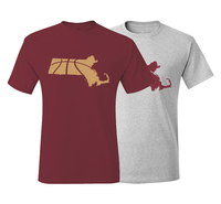 Massachusetts Basketball Boston Maroon & Gold T-Shirt