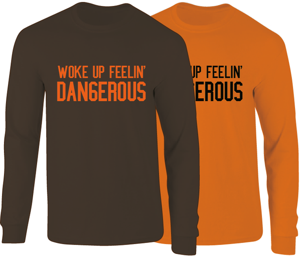 premium selection 4d232 c06db Baker Mayfield Inspired Woke Up Dangerous Long Sleeve T-Shirt