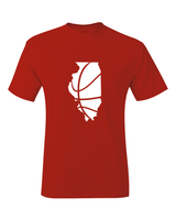 Illinois Basketball Red & White T-Shirt