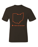 Cleveland Where My Team Plays Brown Map T-Shirt