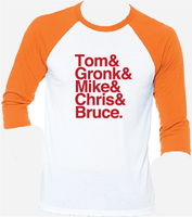 Tom Brady Rob Gronkowski Evans Godwin Throwback Raglan T-Shirt