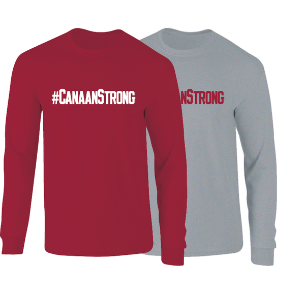 #CANAANSTRONG Arkansas Super Fan Canaan Sandy Support Long Sleeve T-Shirt