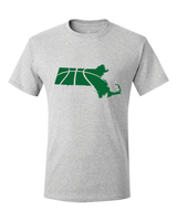 Massachusetts Basketball Boston Green & White T-Shirt