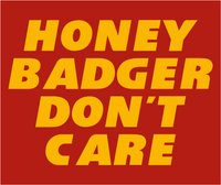 Tyrann Honey Badger Don't Care KC Inspired Long Sleeve T-Shirt