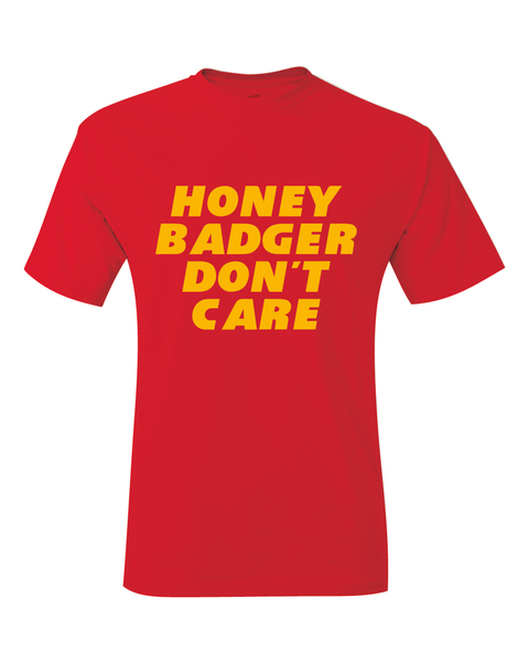 Tyrann Honey Badger Don't Care Kansas City Inspired T-Shirt