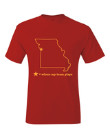 Kansas City Missouri Where My Team Plays T-Shirt