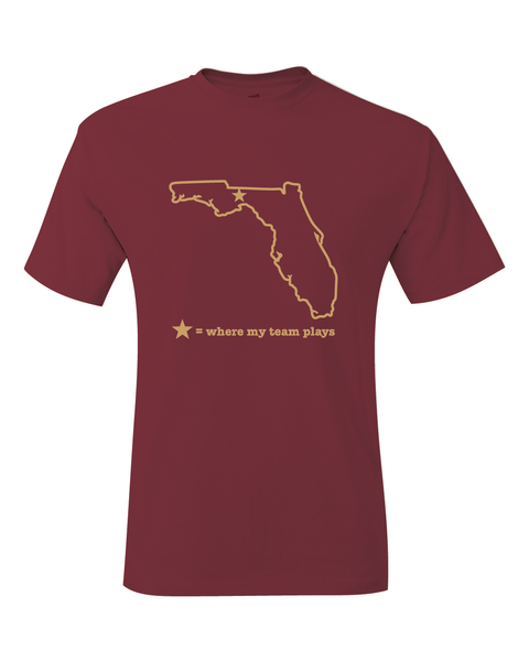 Florida Tallahassee Where My Team Plays T-Shirt