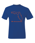 Florida Gainesville Blue & Orange Where My Team Plays T-Shirt
