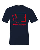Washington Spokane Where My Team Plays T-Shirt