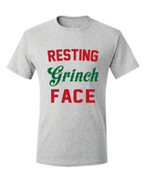 Christmas Resting Grinch Face Unisex T-Shirt