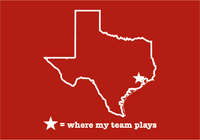 Texas Houston Red & White Where My Team Plays T-Shirt