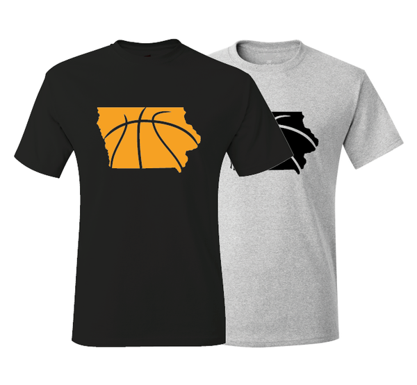 Iowa Basketball Iowa City Black & Gold T-Shirt