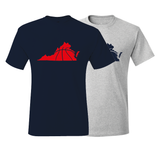 Virginia Basketball Navy & Red T-Shirt