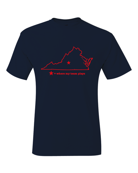 Virginia Lynchburg Where My Team Plays T-Shirt