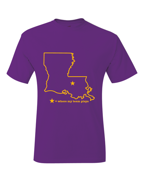 Louisiana Baton Rouge Where My Team Plays T-Shirt
