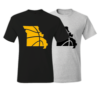 Missouri Basketball Columbia Black & Gold T-Shirt
