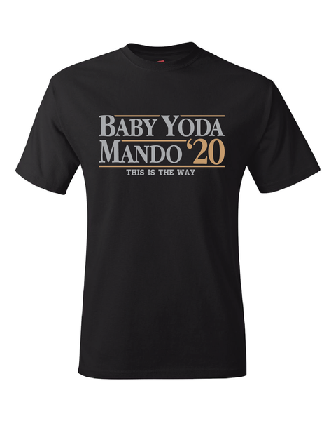 The Mandalorian Baby Yoda 2020 Election T-Shirt