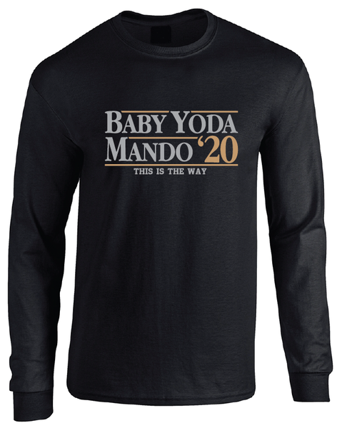 The Mandalorian Baby Yoda 2020 Election Long Sleeve T-Shirt