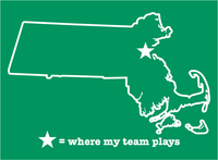 Massachusetts Boston Basketball Where My Team Plays T-Shirt