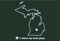 Michigan East Lansing Where My Team Plays T-Shirt